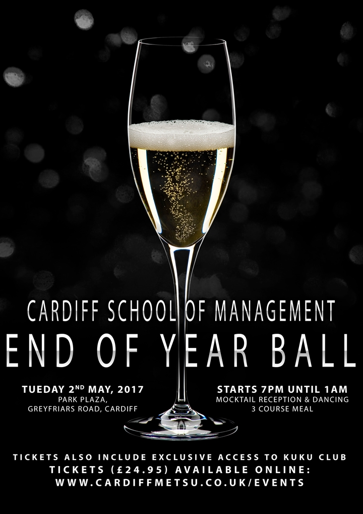 Cardiff School of Management End of Year Ball 2017